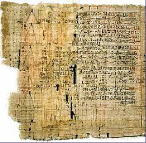 Papiro di Ahmes, risale circa al 1650 a.C. Servizi postali nell'Antico Egitto