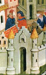 Raffigurazione del 'milione' di Marco Polo. Servizi postali oriente