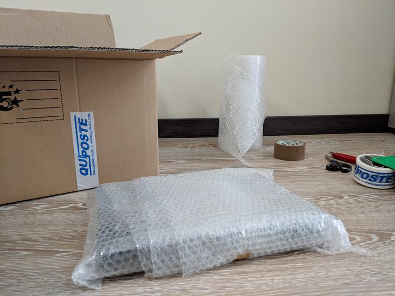 Come imballare un pacco pluriball