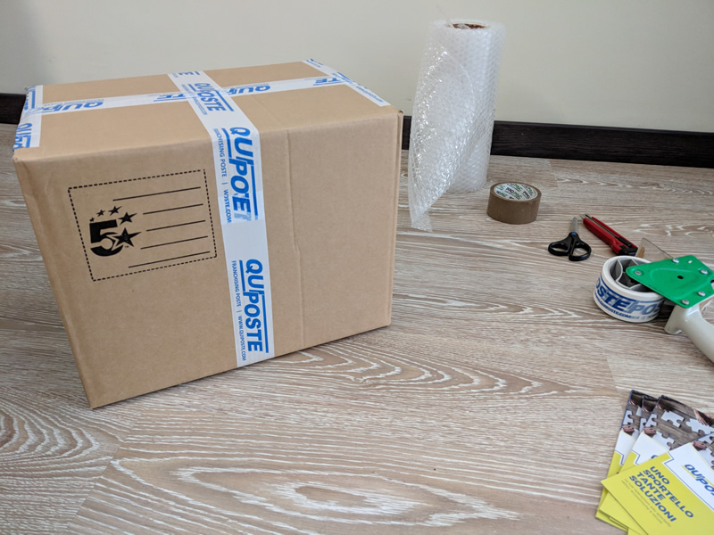 Come imballare un pacco esterno
