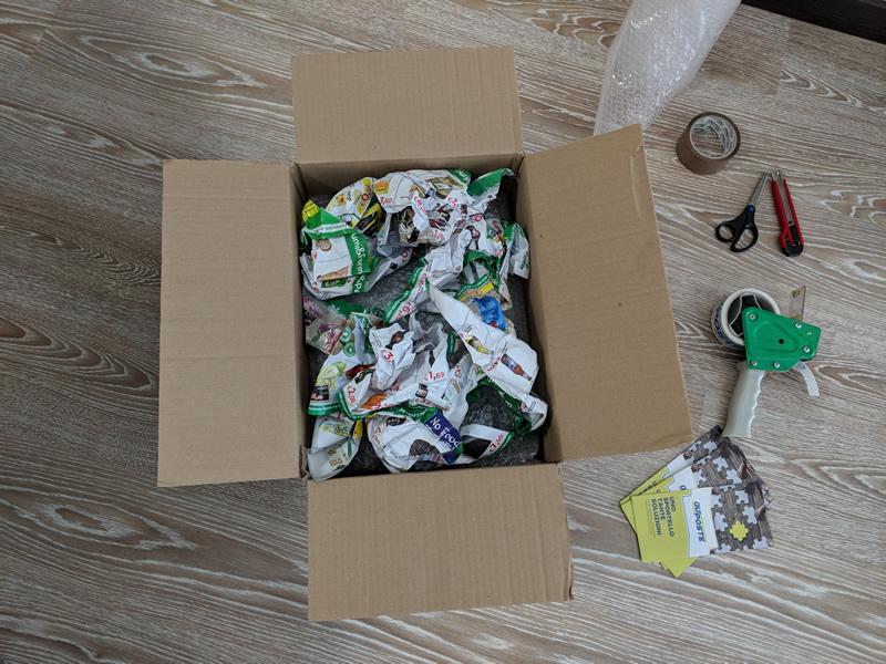 Come imballare un pacco interno