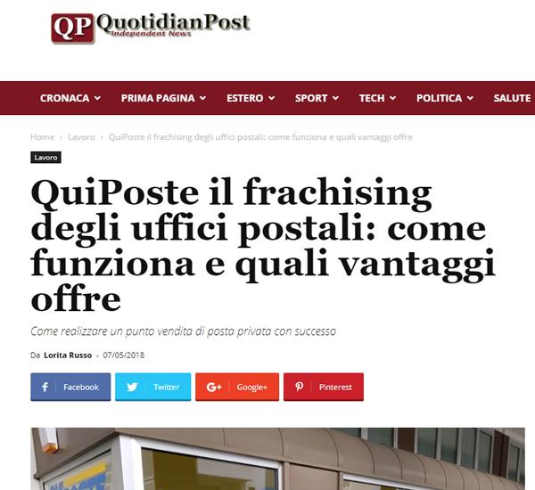 QuiPoste il frachising degli uffici postali come funziona e quali vantaggi offre