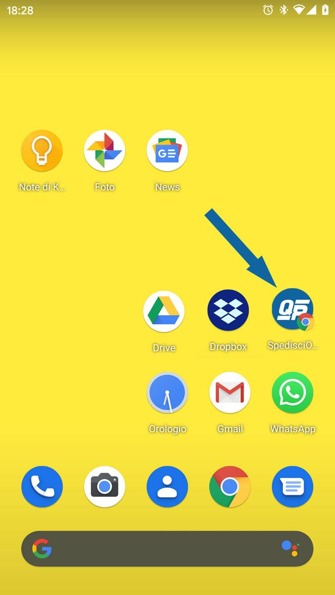 Spedisci online raccomandate da smartphone
