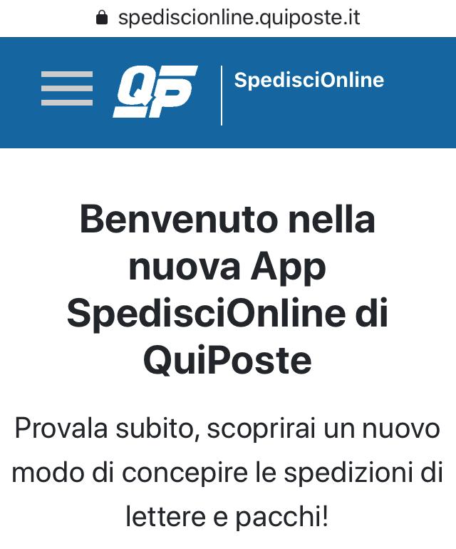 SpedisciOnline di QuiPoste